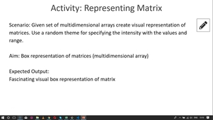 A3  Activity for Matrix Implementation - Data Visualization