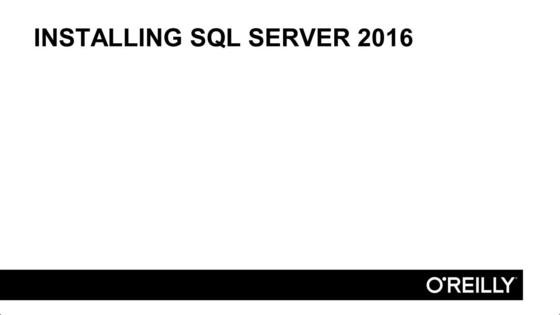 Installing SQL Server 2016 - Querying Data with Transact-SQL - Exam ...