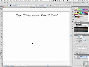 The Illustrator Pencil Tool - Adobe Illustrator CS5 [Video]
