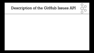 Description of the GitHub Issues API - Apache Kafka Series