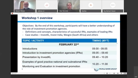 Thumbnail for entry Investment Promotion in Sabah- Building Capacity and Performance (Workshop 2)-Mar 1, 2021