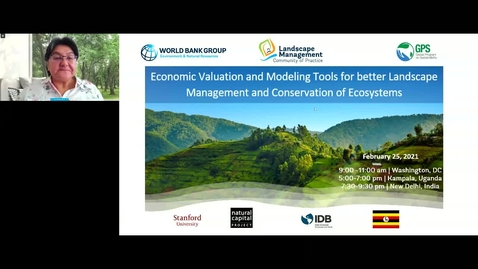 Thumbnail for entry Learning Event- Economic Valuation and Modeling Tools for better Landscape Management and Conservation of Ecosystems-Feb 25, 2021