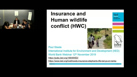 Thumbnail for entry Human-wildlife Conflict and Insurance-Nov 12, 2019