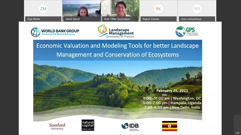 Thumbnail for entry Learning Event- Economic Valuation and Modeling Tools for better Landscape Management and Conservat