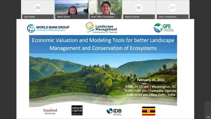 Learning Event- Economic Valuation and Modeling Tools for better Landscape Management and Conservat