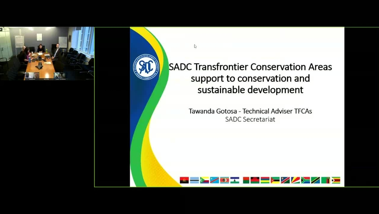 GWP Webinar- Trans-Frontier Protected Areas to Promote Conservation and Development