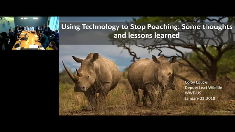 Thumbnail for entry GWP Webinar Application of Innovative Technology to Reduce Poaching