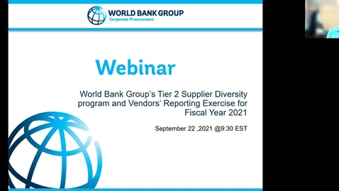 Thumbnail for entry FY21 Supplier Diversity Tier2 Reporting-September 22, 2021
