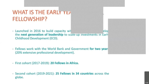 Thumbnail for entry The Early Years Fellowship  Building the next generation of leaders in early childhood-Jun 9, 2021