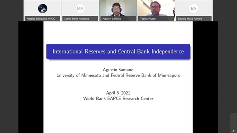 Thumbnail for entry Kuala Lumpur World Bank Research Seminar Agustin Samano Penaloza-Apr 8, 2021