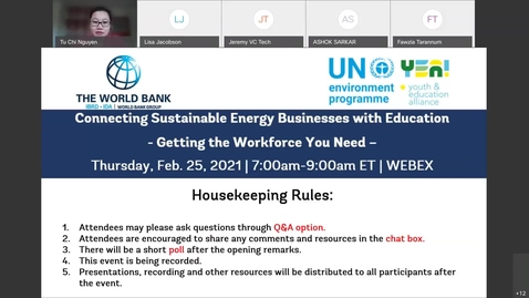 Thumbnail for entry Connecting Sustainable Energy Businesses with Education  Getting the Workforce You Need-Feb 25, 2021