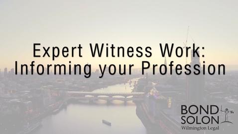 Thumbnail for entry Expert Witness Work - Haydn D. Kelly