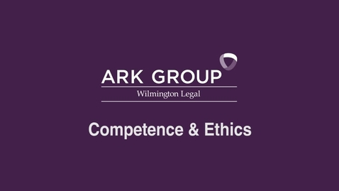 Thumbnail for entry ARK Group - Competence & Ethics