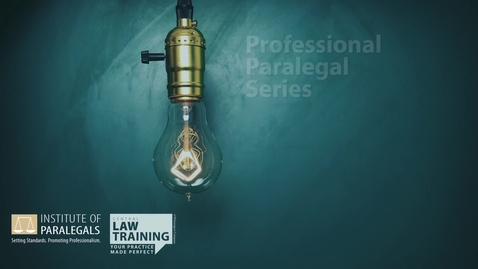 Thumbnail for entry How To Become a Paralegal #3 - Regulatory Requirements V2