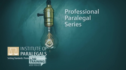 Thumbnail for entry #5 How To Be a Paralegal - Professionalising Paralegal Profession