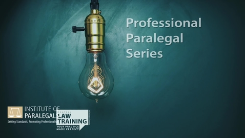 Thumbnail for entry How To Become a Paralegal - Video #2