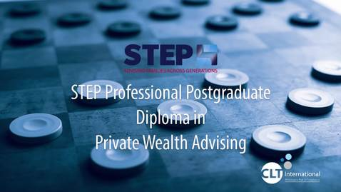 Thumbnail for entry CLTI/STEP - Professional PostGrad Diploma in Private Wealth Advising