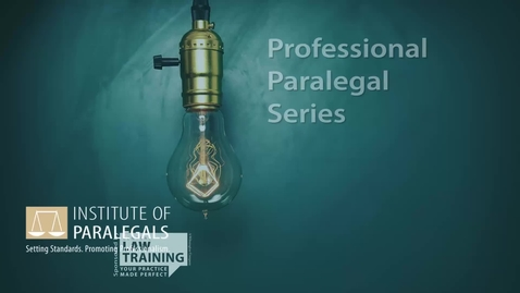 Thumbnail for entry Intro to legal profession new intro