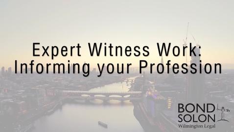 Thumbnail for entry Expert Witness Work - Asma Khalil