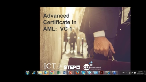 Thumbnail for entry AML VC 1 - 15th May 2017 - 11_00am (UK)
