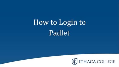 Thumbnail for entry How to Log in to Padlet
