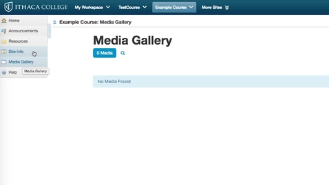 How to Quickly Add a Class Media Gallery in Sakai