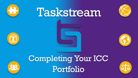 Thumbnail for entry Taskstream: Getting Started on Your E-Portfolio