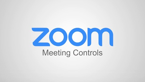 Thumbnail for entry Zoom - Meeting Controls Overview