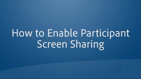 Thumbnail for entry Updated Meeting Security: Enable Screen Sharing from Participants