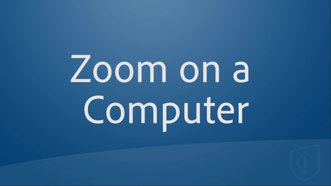 Thumbnail for entry Zoom on a  Computer for Students