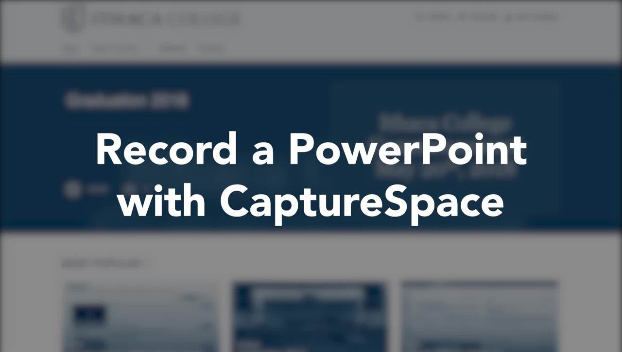 Easy PowerPoint recording with CaptureSpace