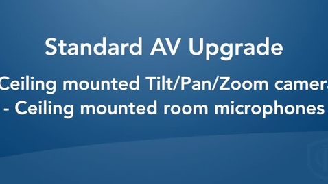 Thumbnail for entry Standard Room Configuration