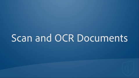 Thumbnail for entry Scan and OCR Documents & Books From Your Phone with Adobe Scan