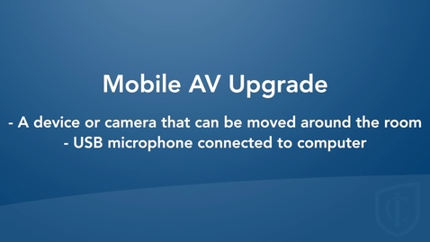 Thumbnail for entry Mobile Room Configuration