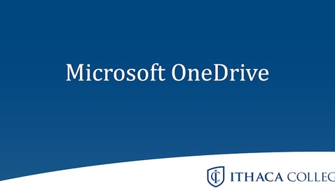Thumbnail for entry Microsoft OneDrive