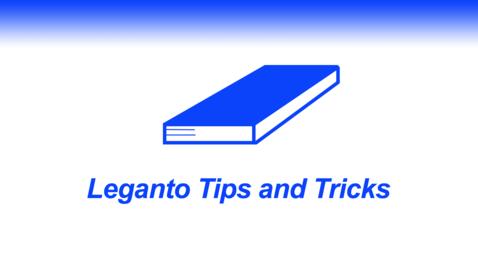 Thumbnail for entry Leganto Reading List