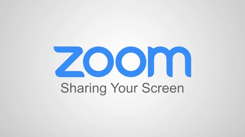 Thumbnail for entry Zoom - Sharing Your Screen