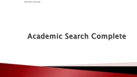 Thumbnail for entry Academic Search Complete