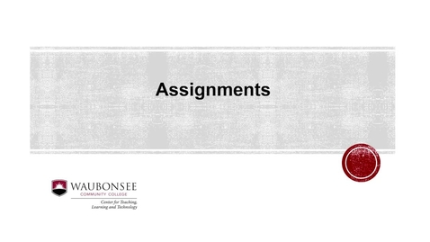 Blackboard: Submitting an Assignment