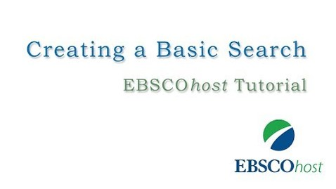 Thumbnail for entry EBSCOhost Basic Search - Tutorial