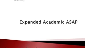 Thumbnail for entry Expanded Academic ASAP