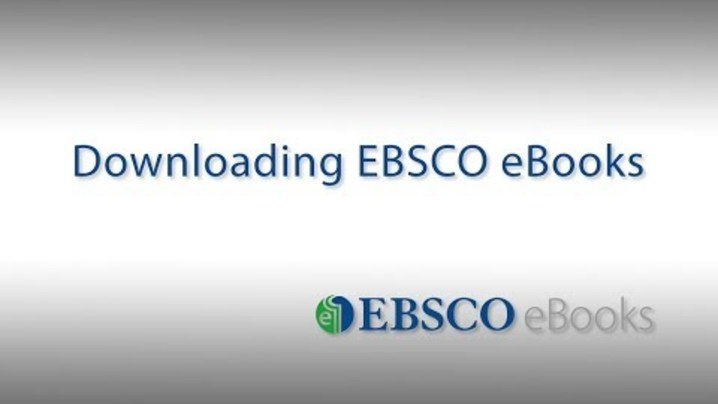 Thumbnail for channel EBSCO eBooks Tutorials