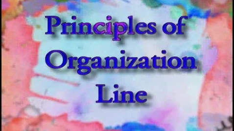 Thumbnail for entry ART110 Part  3 - Principles of Organization - Lines