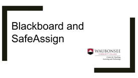 Thumbnail for entry How to use SafeAssign in Blackboard