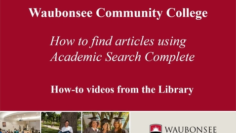 Thumbnail for entry How to Find Articles Using Academic Search Complete