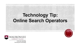 Thumbnail for entry Tech Tip - Search a specific website