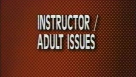 Thumbnail for entry Video 1 - Adult Learners