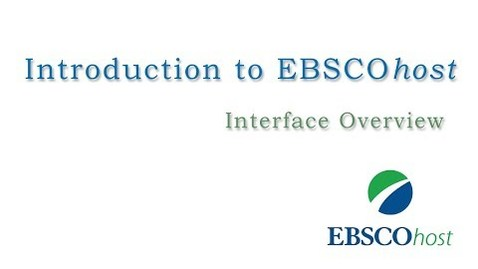 Thumbnail for entry Introduction to EBSCOhost