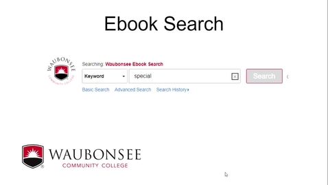 Thumbnail for entry Ebook Search -  Waubonsee Library