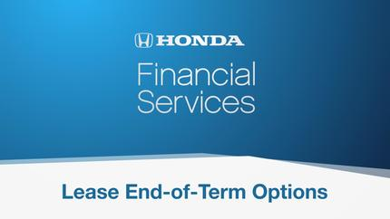 video thumbnail for honda lease end of term options